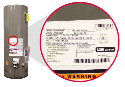 tank water heater installation repair specs